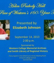 Helen Peabody Hall: A Piece of Western's 160-year History