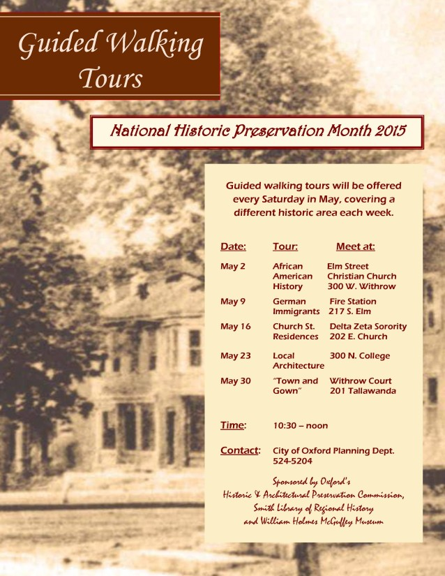 Walking Tours Flyer 2015
